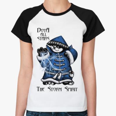 Женская футболка реглан The Storm Spirit
