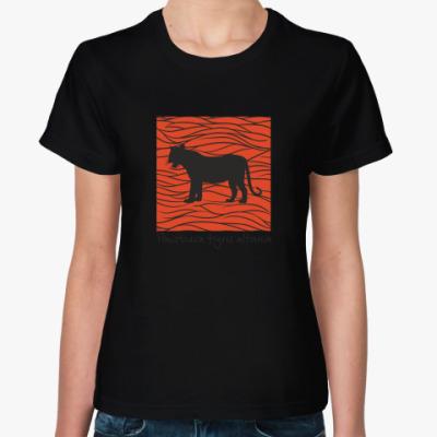Женская футболка WWF. Пантера