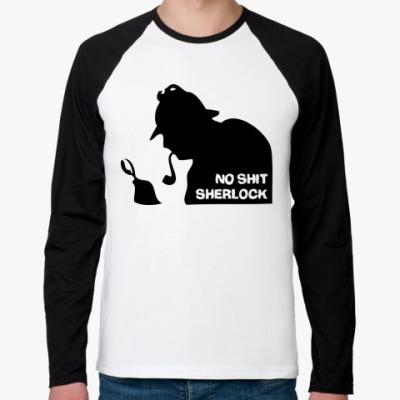 Футболка реглан с длинным рукавом Шерлок