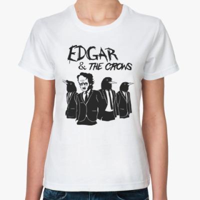 Классическая футболка Эдгар По и Вороны
