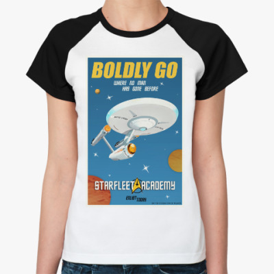 Женская футболка реглан Star Trek Boldly Go