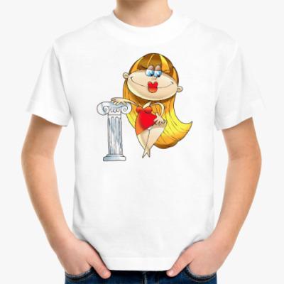 Детская футболка ДЕВА У КОЛОННЫ