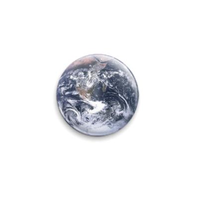 Значок 25мм Планета Земля