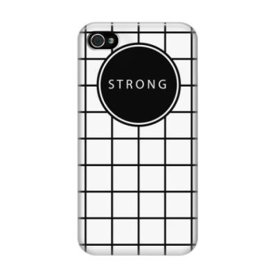 Чехол для iPhone 4/4s Минималистичный принт STRONG