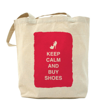 Сумка Keep calm and but shoes
