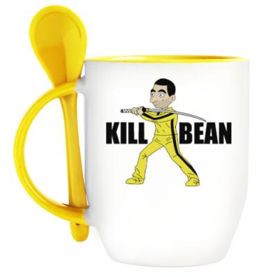Кружка с ложкой Kill Bean