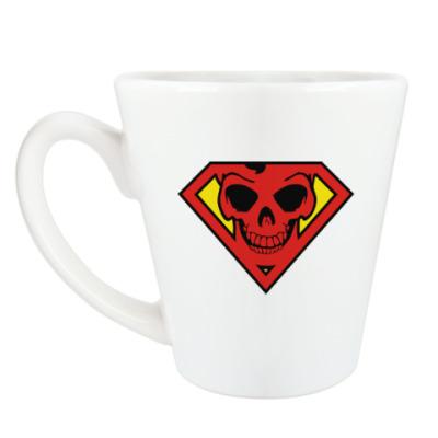 Чашка Латте Skull Superman