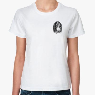 Классическая футболка   БАССЕТ