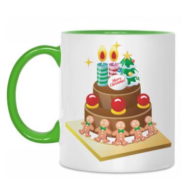 Кружка Рождественский торт