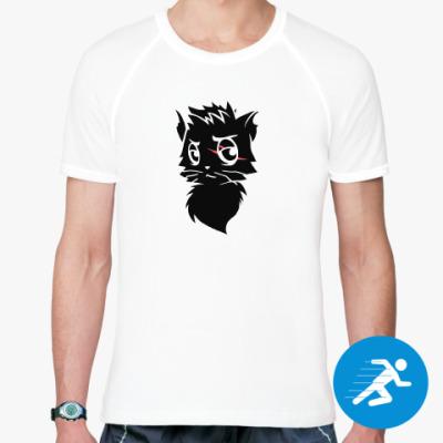 Спортивная футболка Черный кот new