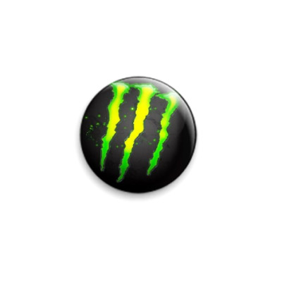 Значок 25мм  Monster energy drink