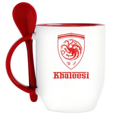 Кружка с ложкой Khaleesi Ferrari