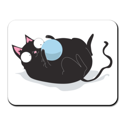Коврик для мыши Кот и мячик