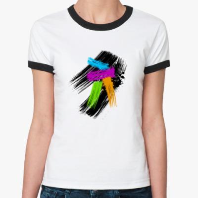 Женская футболка Ringer-T Художественная