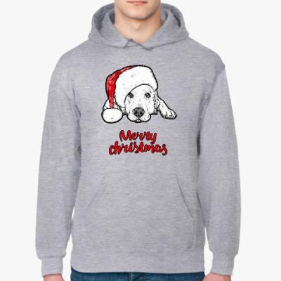 Толстовка худи Собака Санта