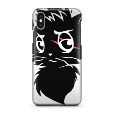 Чехол для iPhone X Черный кот new