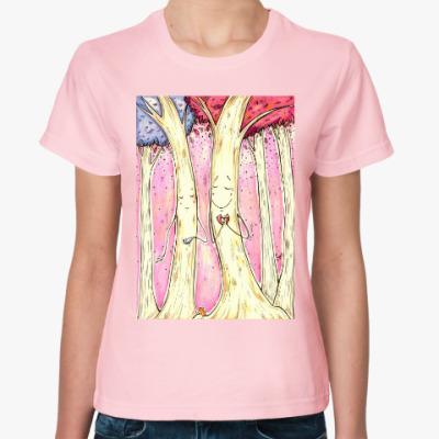 Женская футболка Деревья