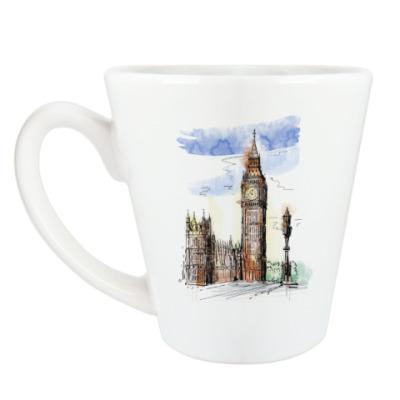 Чашка Латте Биг-Бен -Big Ben-Англия-Лондон