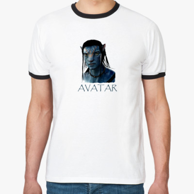 Футболка Ringer-T  Avatar Jake Sully