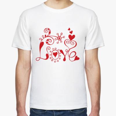 Футболка Love and flower