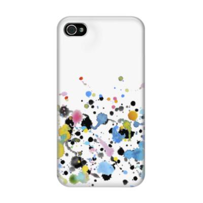Чехол для iPhone 4/4s Шалости и кляксы
