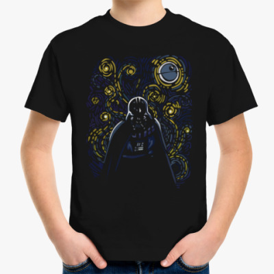 Детская футболка дарт вейдер ван гог