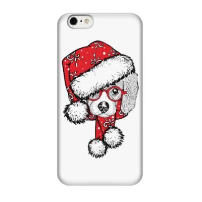 Чехол для iPhone 6/6s Собака Санта