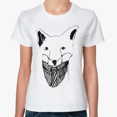 Классическая футболка Лис с галстуком