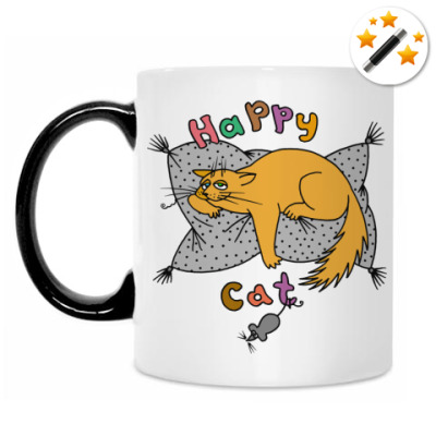 Кружка-хамелеон Happy cat