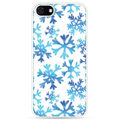 Чехол для iPhone Фактурные снежинки