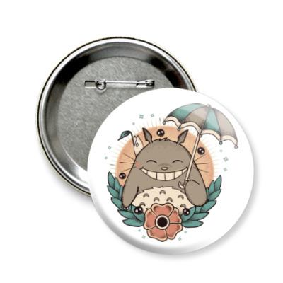 Значок 58мм Smile Totoro
