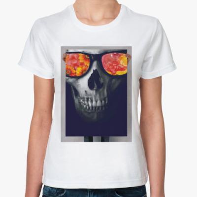 Классическая футболка Череп в очках