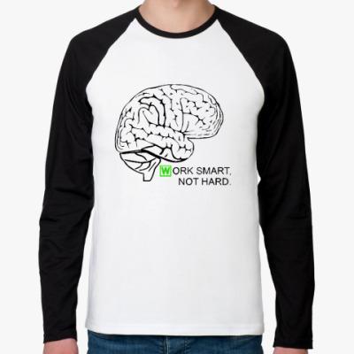 Футболка реглан с длинным рукавом Мозг