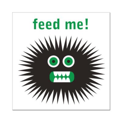 Наклейка (стикер) Feed me!