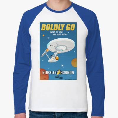 Футболка реглан с длинным рукавом Star Trek Boldly Go