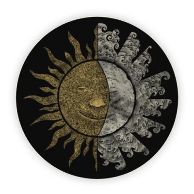 Костер (подставка под кружку) Солнце и Луна