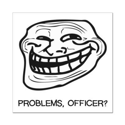 Наклейка (стикер) Trollface