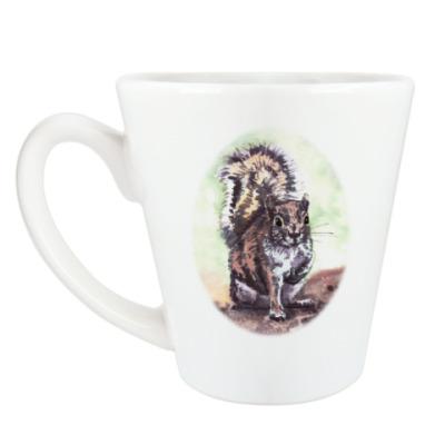 Чашка Латте Белочка