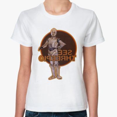 Классическая футболка C-3PO дроид