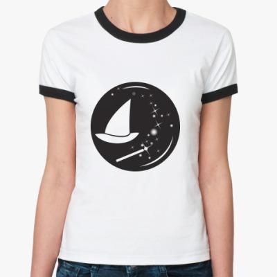 Женская футболка Ringer-T Волшебнице: Эмблема