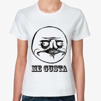Классическая футболка «ME GUSTA»