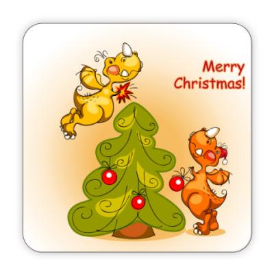 Костер (подставка под кружку) С Рождеством !