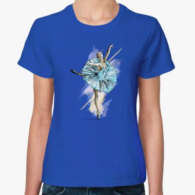 Женская футболка Балерина