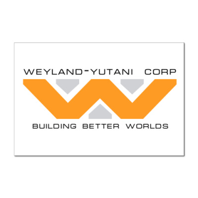 Наклейка (стикер)  'Weyland-Yutani'
