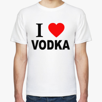 Футболка i love vodka