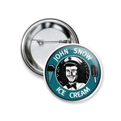Значок 37мм Джон Сноу - Мороженое