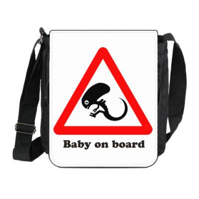 Сумка на плечо (мини-планшет) Ребенок на борту
