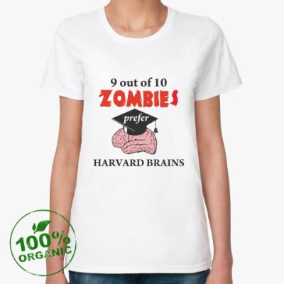 Женская футболка из органик-хлопка Harvard brains
