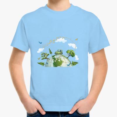 Детская футболка Эко-автомобиль - Путешествие