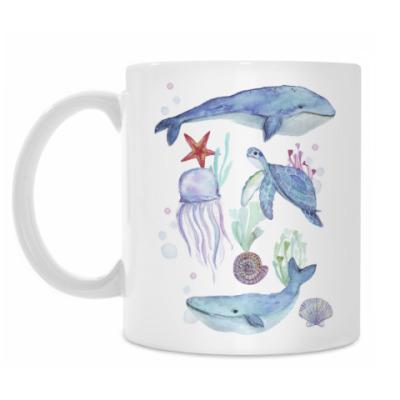 Кружка Акварельный подводный мир